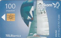 SLOVENIA - Jadrnica Soling/Poslovni Paket (Pošta Slovenije), Chip:Solaic SO3 (Module 44), Tirage 54.476 , 07/96,used - Slowenien