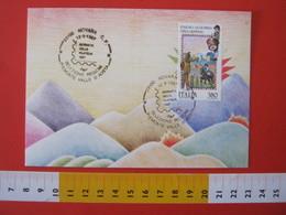 A.12 ITALIA ANNULLO 1987 NOVARA GIORNATA DELLA FILATELIA SELEZIONE REGIONI PIEMONTE VALLE D' AOSTA - Giornata Del Francobollo