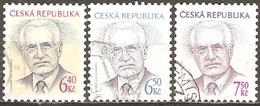 Tchéquie - 2003 à 2005 - Président Vaclav Klaus - YT 338, 352 Et 391 Oblitérés - Repubblica Ceca
