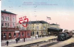 HERBESTHAL - Grenz-Bahnhof - Letzte Deutsche Bahnstation, 100m Von Der Belg. Grenze - Carte Colorée Avec Locomotive - Lontzen
