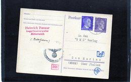 CG6 - Germania - Cartolina Postale Da Mitterleich 30/5/1943 Per Rep. San Marino - Deutschland