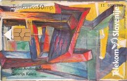 SLOVENIA - Marko Andlovic, Vipava - Galerija Keleia / Združenje Slovens, Chip:GEM5 (Black), Tirage 10.332 , 10/98,used - Slowenien