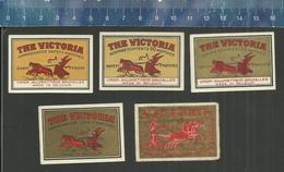 THE VICTORIA OLD MATCHBOX LABELS BELGIUM UNION ALLUMETTIÈRE BRUXELLES ( CHARIOT CHAR STRIJDWAGEN ) - Boites D'allumettes - Etiquettes
