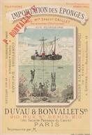 DUVAU Et BONVALLET - IMPORTATION DES EPONGES Vers 1900 - Publicidad