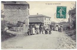 Un Quartier De CADOLON (71) – Très Animée, Superbe. Editeur Croucy. Cachet Convoyeur. - Sonstige Gemeinden