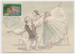 CARTE MAXIMUM CM Card USSR RUSSIA Art Ballet Music Chaikovsky - 1923-1991 UdSSR