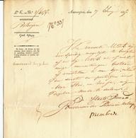 DDW 542 -- POSTERIJEN TURNHOUT - Document 1825 Signé Du Gouverneur De La Province D' Anvers - 1815-1830 (Periodo Olandese)