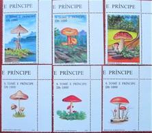 St. Tome  & Principe  1995  Mushrooms  Pilze  6 V  MNH - Champignons