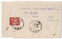 Perforé (Perfin) - Iris - 1945 - Facture - Manufacture De Vêtements Ecclésiastiques ARGOD Et Cie à Crest (Drôme) - France