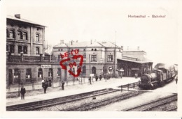 HERBESTHAL - Bahnhof - Carte Avec Locomotive - Lontzen