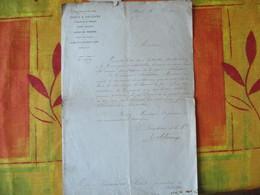 CHEMIN DE FER DE PARIS A ORLEANS PARIS COURRIER DU 28 7bre 1871 LE DIRECTEUR DE LA Cie COURRIER DE M.JOUANIQUE A AUBUSSO - Manuskripte