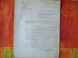ETAT FRANCAIS LILLE LE 30 JANVIER 1942 LE PREFET DU NORD OBJET:PRISONNIERS DE GUERRE MUSULMANS,MISSION DE Mme KIENTZ - Historical Documents