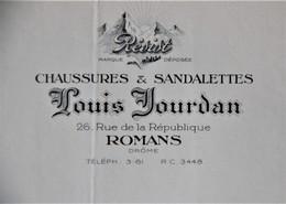 LOT DE FACTURES 26 DROME ROMANS MANUFACTURE DE CHAUSSURES LOUIS JOURDAN ANNEE 1932 - Textile & Clothing