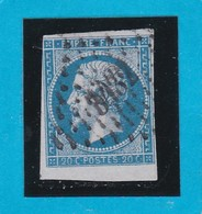 N° 14A   - PC  3432   TROYES   ( 09 )  AUBE  - REF 14112 + Beau BDF - 1853-1860 Napoleon III