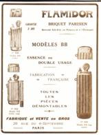 """PUB  BRIQUETS """" FLAMIDOR """"    1916  ( 9 ) - Andere"""