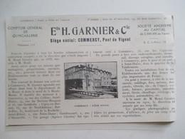 (Année 1927) Meuse - COMMERCY Pont De Vignot - QUINCAILLERIE  Ets Henri GARNIER - Ancienne Coupure De Presse - Documents Historiques