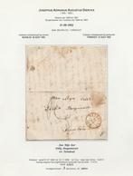 DDW 548 -- Lettre Non Affranchie BEVERLOO 1852 Vers Mr Dirkx , Burgemeester Tot TURNHOUT - Altri