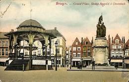 CPA - Belgique - Brugge - Bruges - Grand'Place, Statue Breydel Et Deconinck - Damme