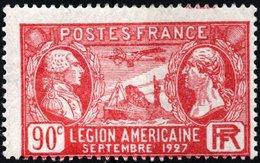 FRANCIA, FRANCE, CONGRESSO LEGIONE AMERICANA, 1927, 90 C., FRANCOBOLLO NUOVO (MLH*), YtFR 244, MiFR 224, ScottFR 243 - Neufs