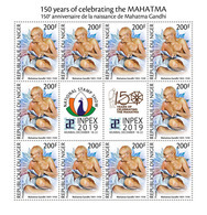 NIGER 2019 - Mahatma Gandhi, M/S. Joint Issue [NIG190518c] - Emisiones Comunes