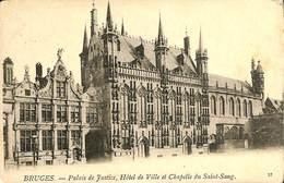 CPA - Belgique - Brugge - Bruges - Palais De Justice, Hôtel De Ville - Damme