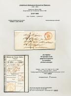 DDW 550 -- Lettre Non Affranchie TOURNAI 1857 Vers Mr Kevelaer Tot TURNHOUT + Talon De Mandat Vers Sneyers - Altri