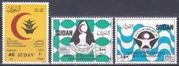 Sudan Soudan 1988 Organisationen Medizin Medicine Erste Hilfe First Aid Roter Halbmond Kerzen Candles, Mi. 395-7 ** - Sudan (1954-...)