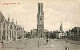 CPA - Belgique - Brugge - Bruges - La Grand'Place - Damme