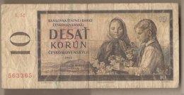 Cecoslovacchia - Banconota Circolata Da 10 Corone P-88e - 1960#17 - Cecoslovacchia