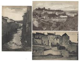 57 - SIERCK - Lot De 3 CPA - Fort Et Collège, Rue Des Moulins, Ruisseau De Montenach - Autres Communes