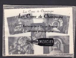 EPERNAY Pochette De 6 Cartes Postales Les Caves De Champagne ( Mercier 6 Cartes N&B ) - Epernay