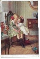 "L170A674 - Dessin De Fillette Consolant Sa Grande Soeur - A.Noyer N°120 - A.Denvil ""Consolation"" - Dessins D'enfants"