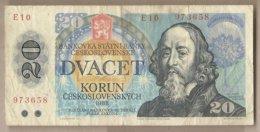 Cecoslovacchia - Banconota Circolata Da 20 Corone P-95a - 1988#18 - Cecoslovacchia