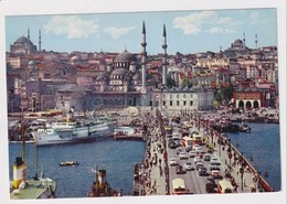 TURKEY  - AK 373125 Istanbul - Galata Bridge And New Mosque - Turkey