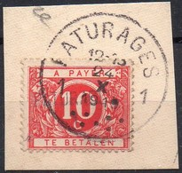 TX13A Griffe PATURAGES Sur Fragment - Stamps