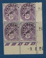 """FR Coins Datés Préo YT 43 """" Blanc 10c. Violet """" Neuf** Du 9.8.29 - Coins Datés"""