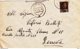 Albania, Lettera Per Genova, 1939 - Bezetting 2° Wereldoorlog (Italië)