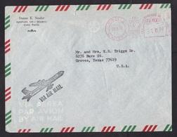 Cabo Verde: Airmail Cover To USA, 1978, Meter Cancel Mindelo S. Vicente (minor Damage) - Kap Verde