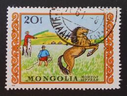 APPRIVOISEMENT DU CHEVAL 1976 - OBLITERE - YT 840 - Mongolie