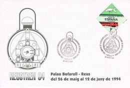 35693. Carta REUS (Tarragona) 1994. Congreso Asociaciones Amigos FERROCARRIL. Tren - 1931-Hoy: 2ª República - ... Juan Carlos I
