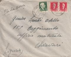 Albania, Lettera Per Via Aerea, Durazzo Per Chiavari, 21.3.42  - Albania