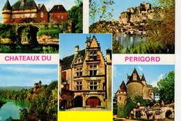 Le Périgord 5 Vues: Château De Losse à Thonac , De Beynac , De Montfort , Des Milandes , Maison De La Boétie à Sarlat - Francia