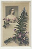 Femme Dans Décor Fougère - Edition Croissant - Photographe G. VIE - Autres Célébrités