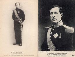 SM Albert 2x Antique Military WW1 Postcard S - Weltkrieg 1914-18