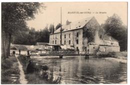 CPA 60 - MAREUIL SUR OURQ (Ourcq) (Oise) - Le Moulin (petite Animation, Pêcheurs) - Francia