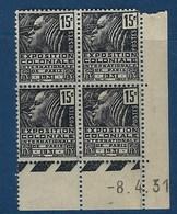 """FR Coins Datés YT 270 """" Expo Coloniale Paris 15c. Gris """" Neuf** Du 8.4.1931 - 1930-1939"""