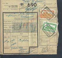 BELGIQUE DOCUMENT SUR TIMBRES CHEMIN DE FER TAMPON TIENEN X DIEST : - Railway