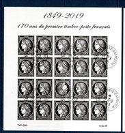 France 2019.Bloc 170 Ans Du Premier Timbre Poste Français.** - Souvenir Blocks & Sheetlets