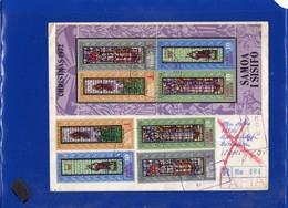##(DAN202)-Samoa & Sisifo 1972-  Registered Cover From Apia To Israel, RTS Retour To Sender  To Italy - Vetri & Vetrate