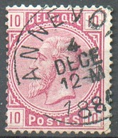 N°38 - 10 Centimes Rose, Obl. Sc ANNEVOIE - 15146 - 1883 Léopold II